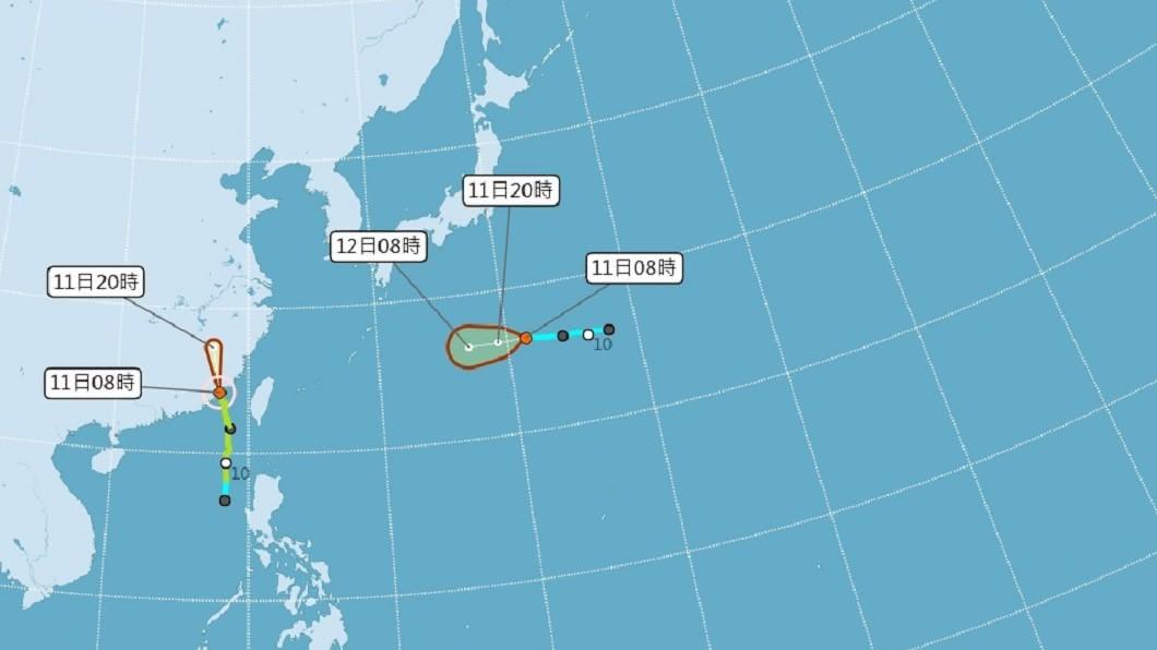 (圖/中央氣象局) 澎湖脫離米克拉暴風圈 金門颱風警報估午後解除