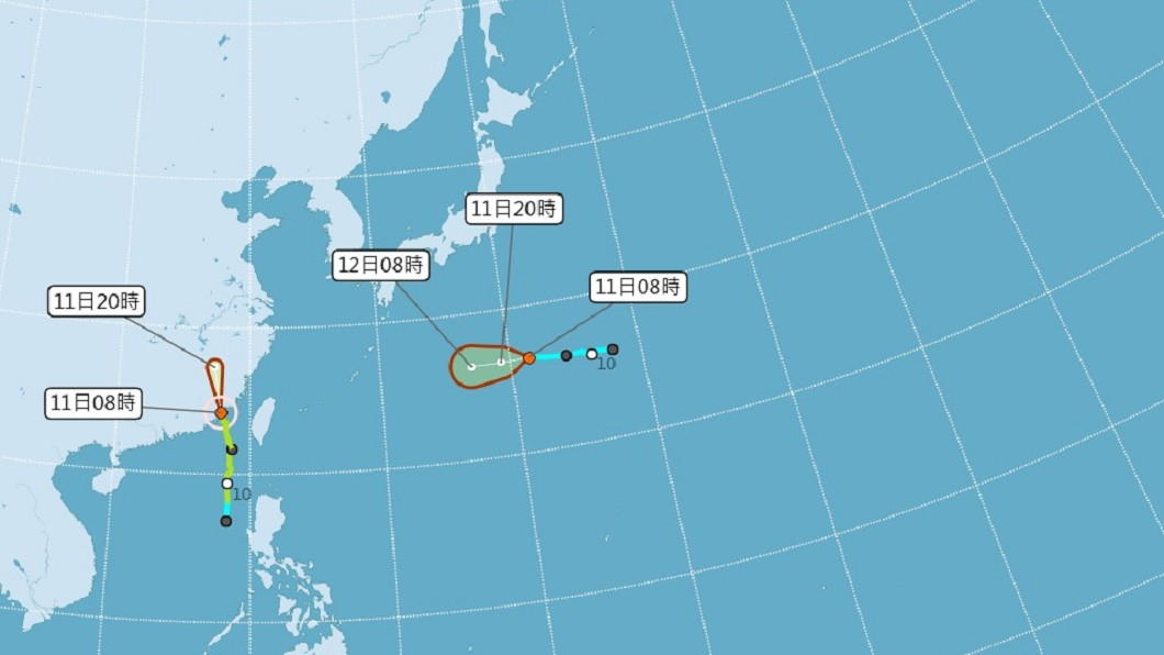 (圖/中央氣象局) 颱風米克拉遠離 金門及台灣海峽北部警報解除