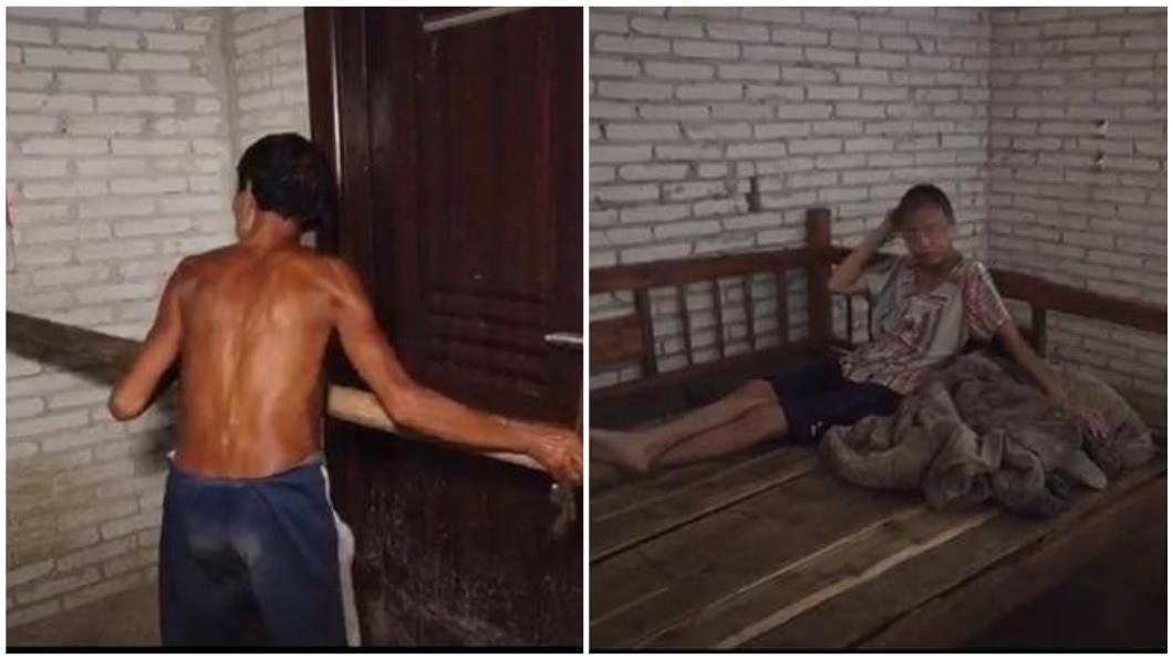 廣西1名男子涉嫌把自己的妻子鎖在房內超過10年。(圖/翻攝自微博) 男把妻鎖屋10年生3子 妹詭笑爆料:他2刀砍死媽媽