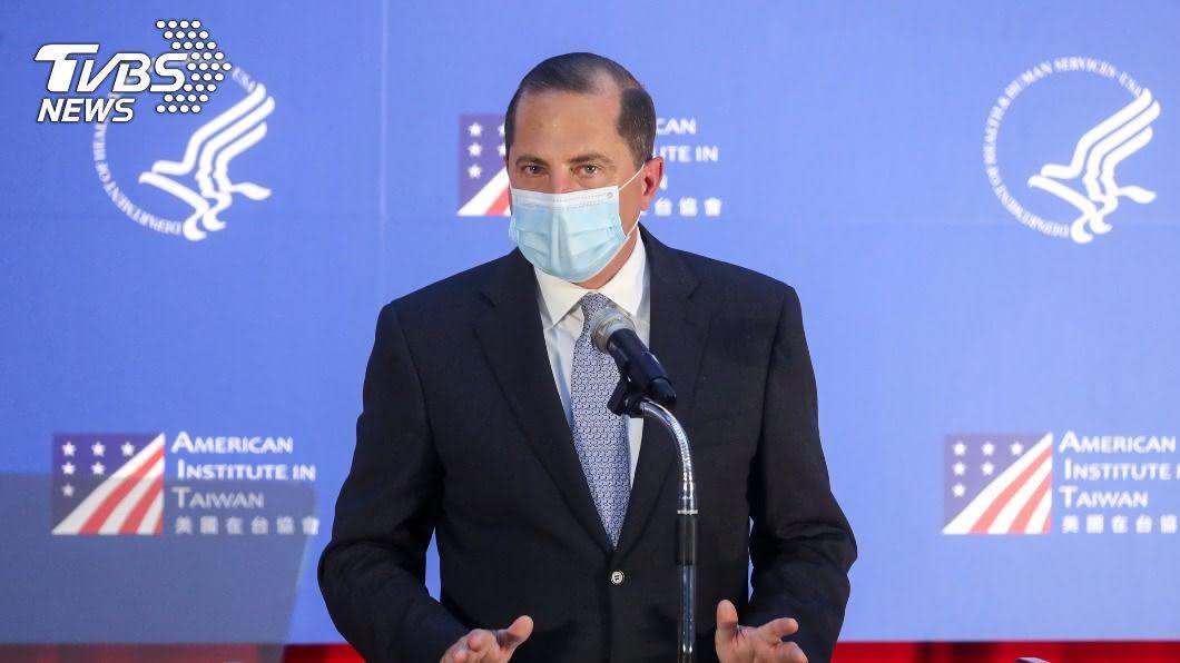 美國衛生部長阿札爾。(圖/中央社) 重申訪台完全符合前例 阿札爾:台灣民主值得被保護