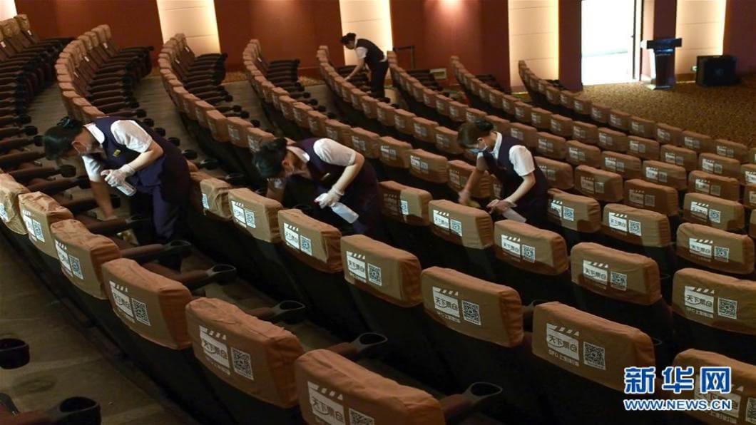 圖/翻攝自 新華網 上海率先鬆綁觀影限制 影院上座率升至50%