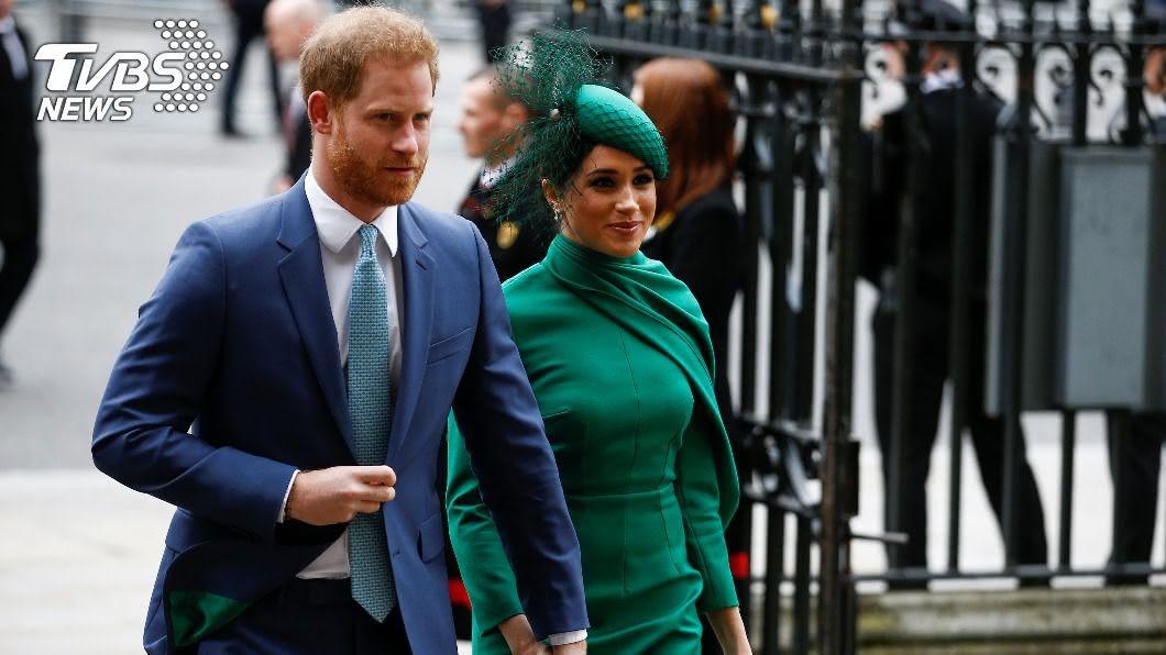 英國王子哈利和妻子梅根。(圖/達志影像路透社) 再拋震撼彈! 哈利梅根自傳式新書揭英王室內幕