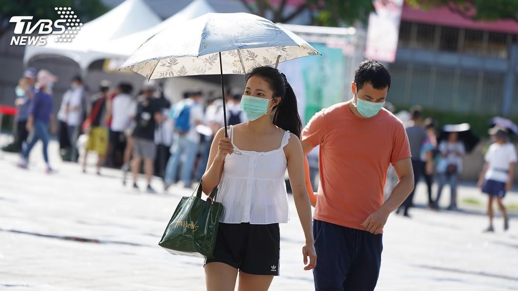 (圖/中央社) 天氣炎熱高溫 注意午後至晚間雷陣雨