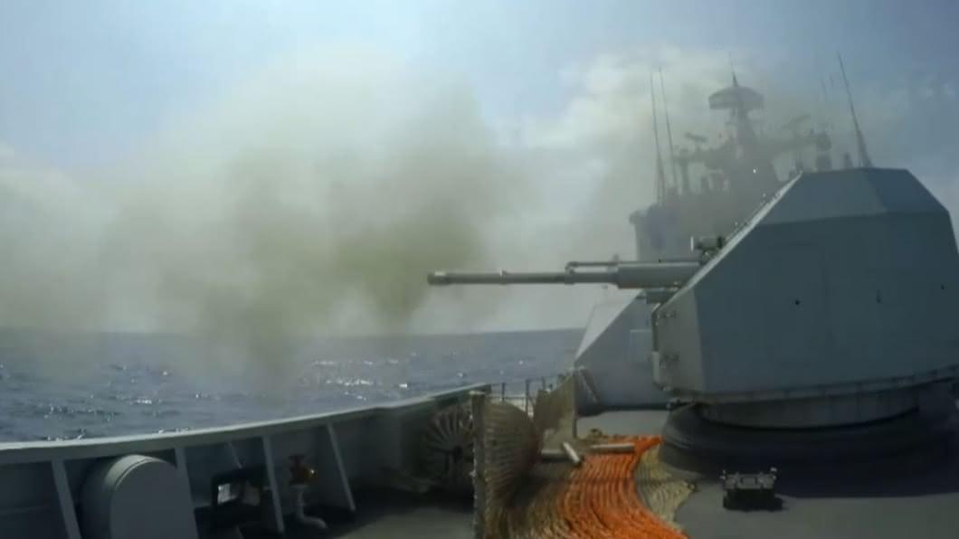 (示意圖/翻攝自微博) 罕見4海域同步 解放軍一個月內公布9場大型軍演