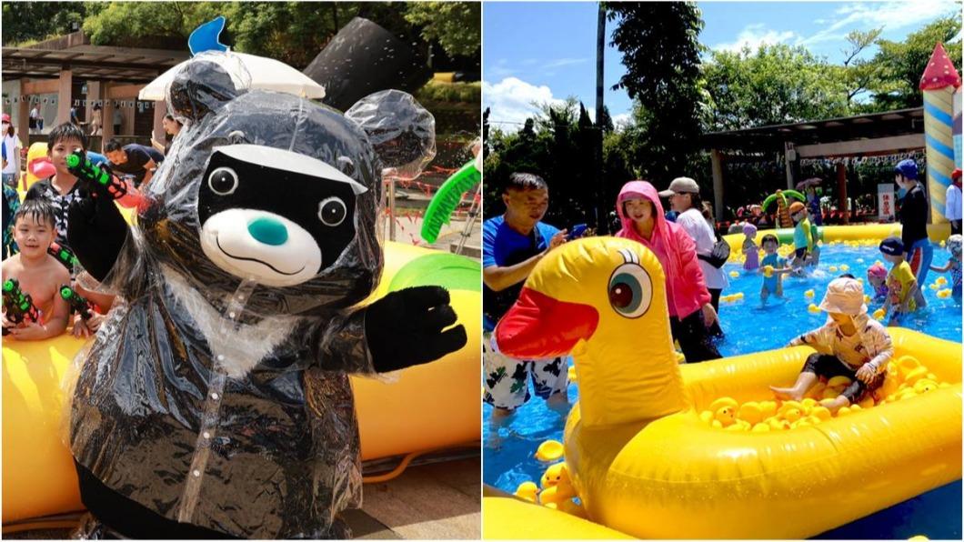 熊讚水樂園只開放到八月底,把握機會快衝!(圖/台北旅遊網提供) 超長滑水道玩到爽! 北水「熊讚水樂園」限時開放