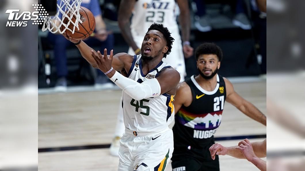 (圖/達志影像美聯社) 密契爾攻下30分 NBA爵士大勝金塊扳平系列賽