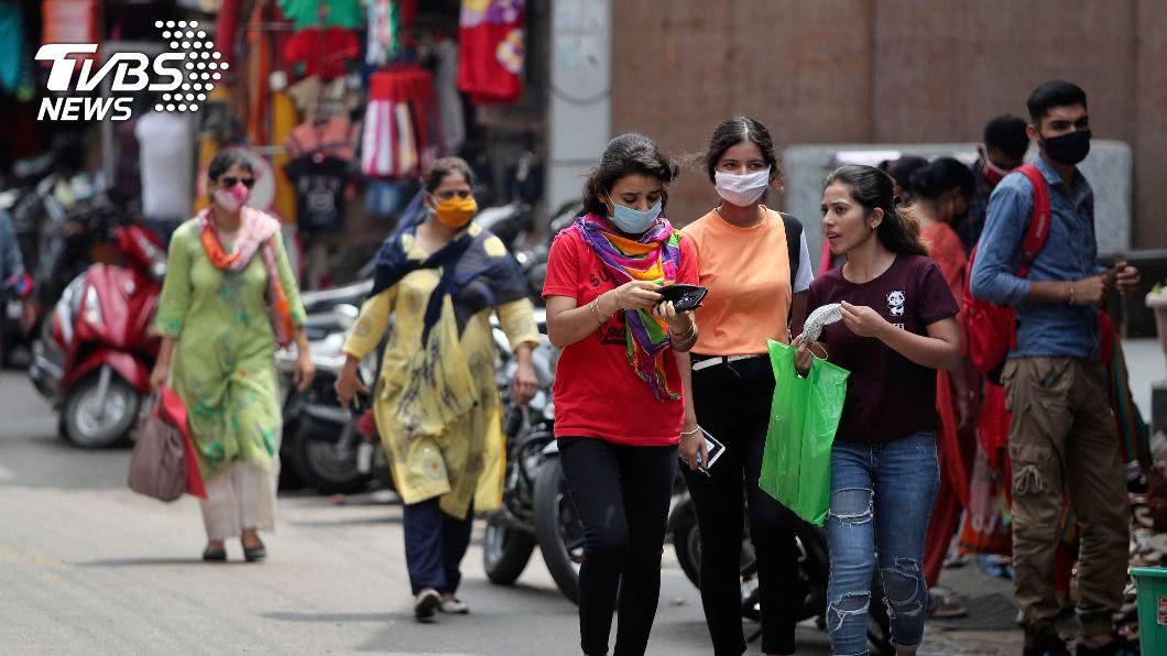 (圖/達志影像美聯社) 印度增6萬9652人染疫 再度刷新單日確診紀錄