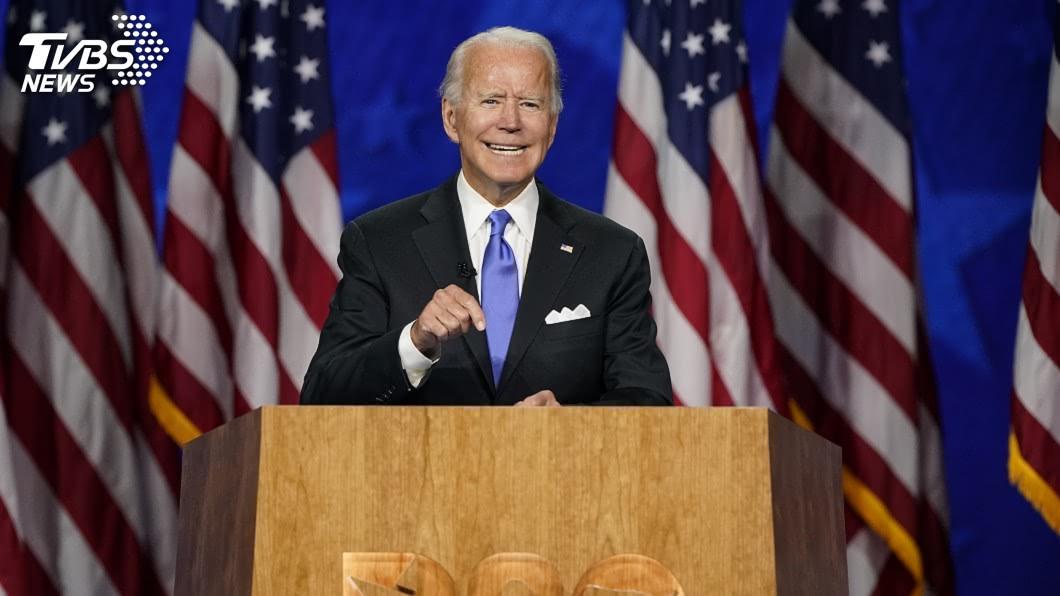 美國前副總統拜登。(圖/達志影像美聯社) 拜登接受提名參選總統 籲團結克服美國黑暗時節
