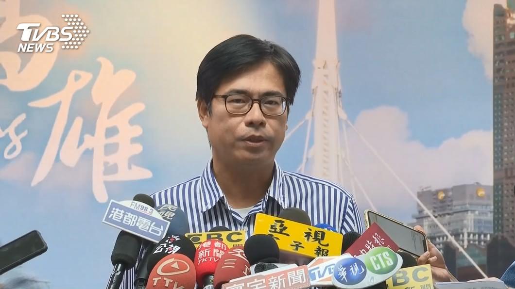 高雄市長陳其邁。(圖/TVBS) 鐵人行程勘災是否壓力大? 陳其邁:我個性就緊緊緊