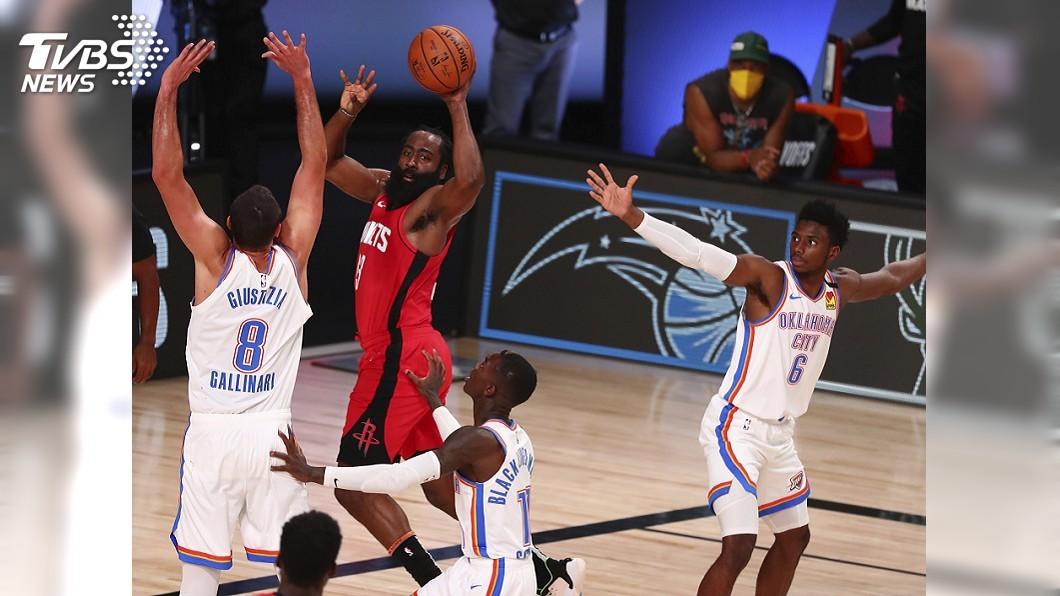 (圖/達志影像美聯社) NBA火箭大打團體戰 季後賽2比0領先雷霆