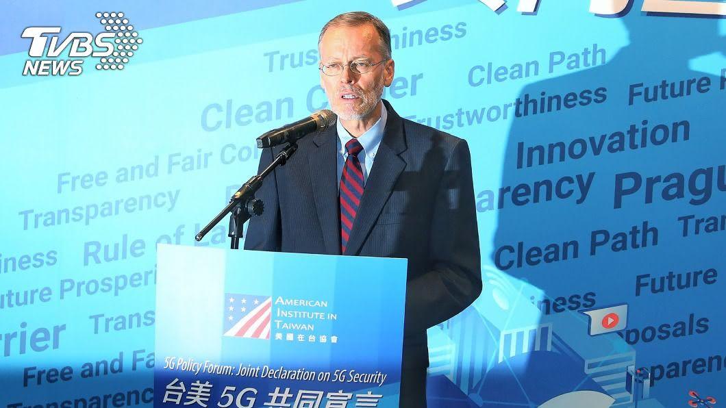 美國在台協會處長酈英傑。(圖/中央社) 台美發布5G共同宣言 酈英傑:台灣是乾淨的夥伴