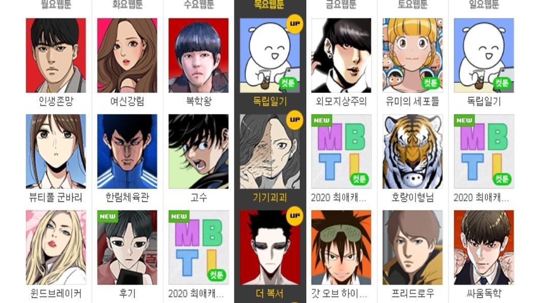 圖/翻攝自 네이버 웹툰 - Naver Webtoon 官網 韓網漫產蓬勃 市場達一兆韓元 改編夯劇辦展