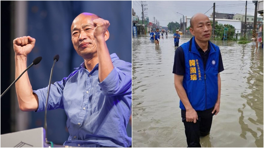 (圖/翻攝自韓國瑜臉書) 豪雨狂炸釀災 韓粉哭了:現在才知沒韓國瑜高雄失去什麼