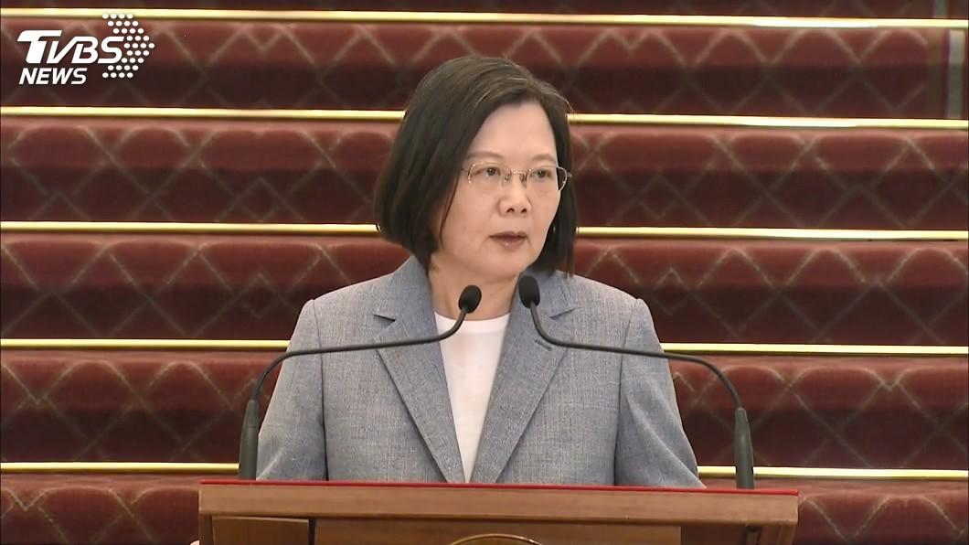 總統蔡英文。(圖/TVBS) 走向全球經濟新舞台 蔡英文宣布放寬美豬美牛進口