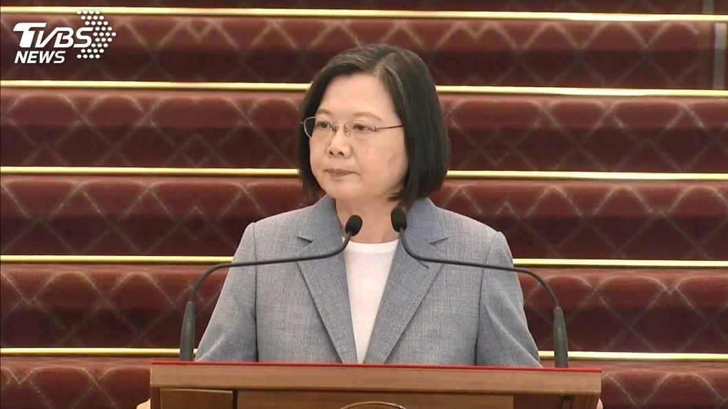 總統蔡英文。(圖/TVBS) 解決美豬美牛議題 蔡英文:台美經濟全方位合作起點