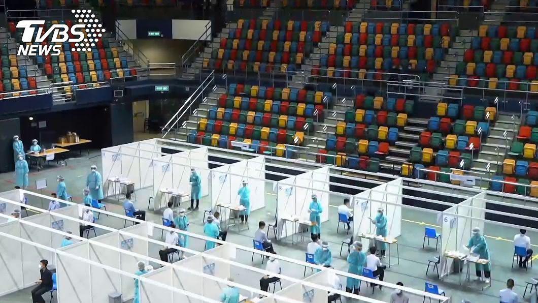 香港檢測中心。(圖/中通社提供) 港府首次全民檢測遭批 醫護團:擔心個資移送大陸