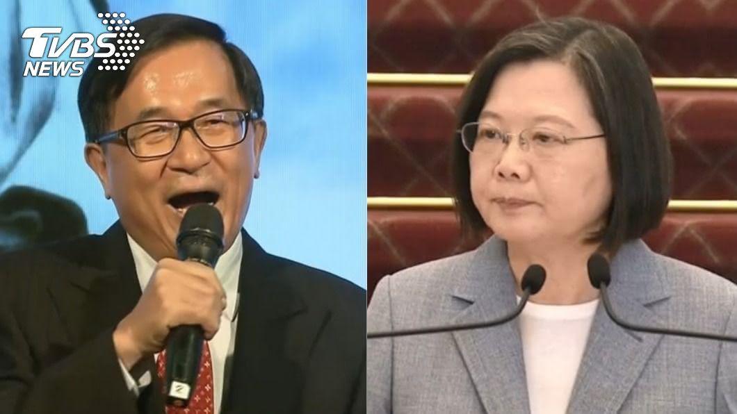 陳水扁(左)、蔡英文(右)。(圖/TVBS資料畫面) 蔡英文強硬開放美牛豬 陳水扁:她抗拒不了美國政治壓力