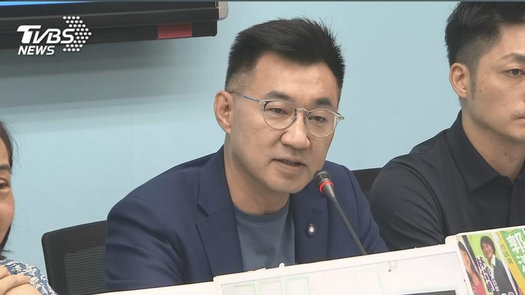 國民黨主席江啟臣。(圖/TVBS) 反美豬牛進口!江啟臣:捍衛人民健康 不排除上街頭