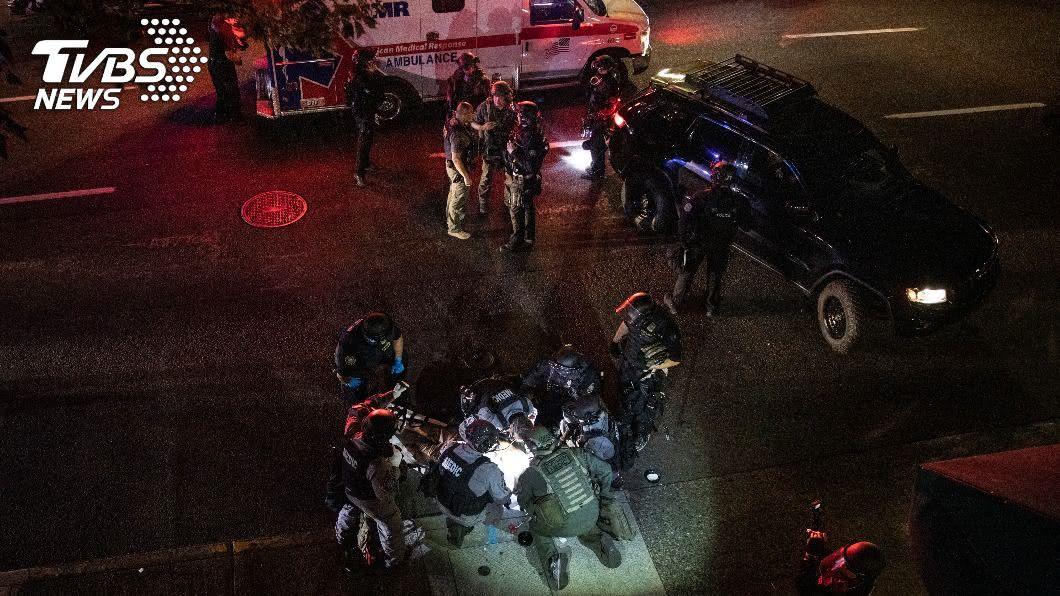 (圖/達志影像美聯社) 波特蘭衝突1人中槍亡 川普和市長隔空舌戰相罵