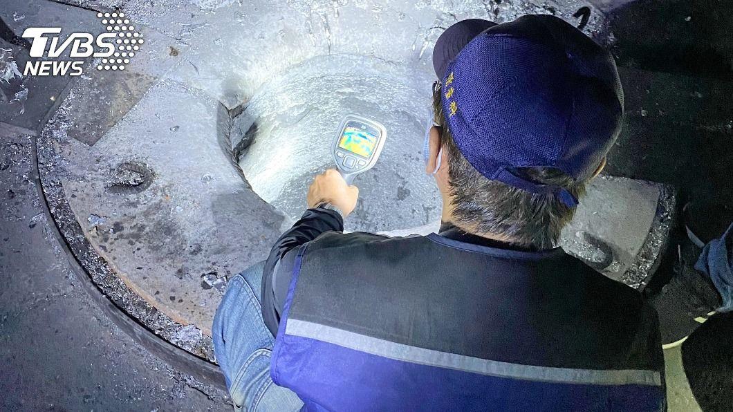 (圖/環保局提供) 新北首度出動紅外線空拍機蒐證 偵破非法煉鋁廠