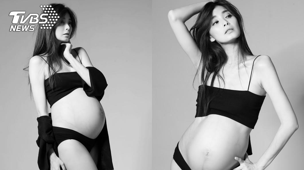 圖/伊林娛樂提供 卸貨倒數!夏如芝喜曬8月裸肚 粉絲讚翻:最美孕婦