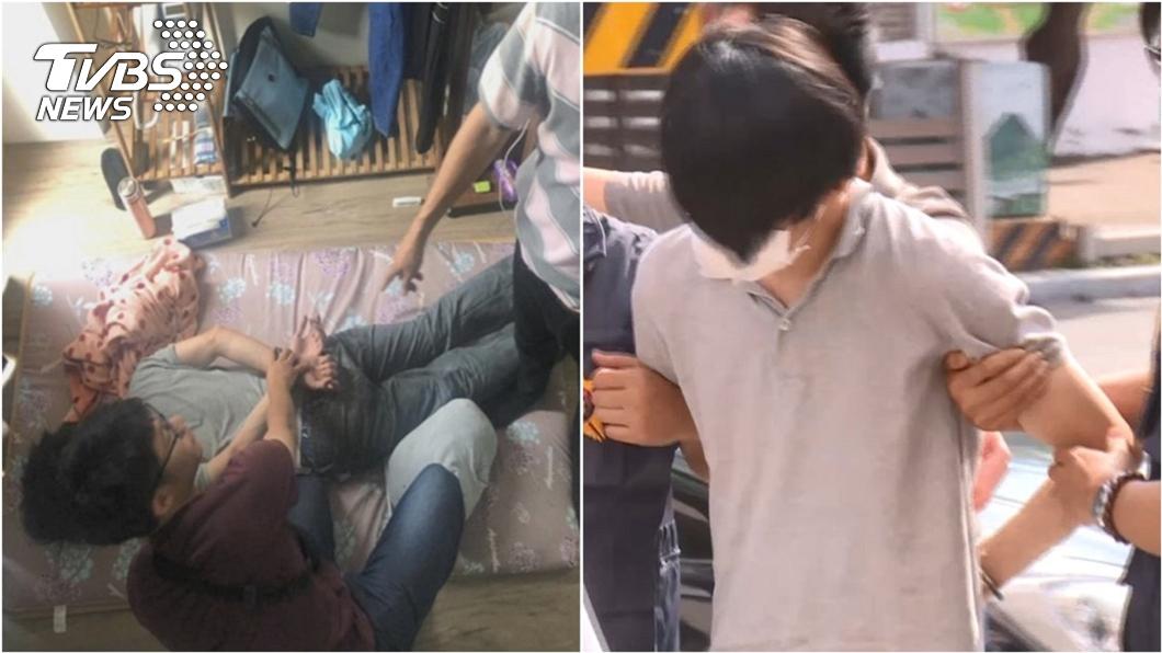 羅姓主嫌涉嫌囚禁高雄少女遭警方逮捕。(圖/TVBS資料畫面) 羅嫌囚禁高雄少女66小時! 19歲嫩妻終於發聲了