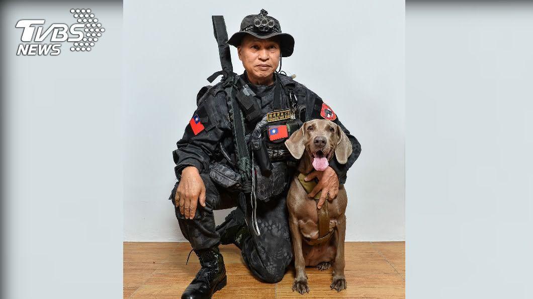 搜救犬「林志玲」。(圖/陳星瑋提供) 曾參與高雄氣爆案、華山分屍案 搜救犬「林志玲」過世
