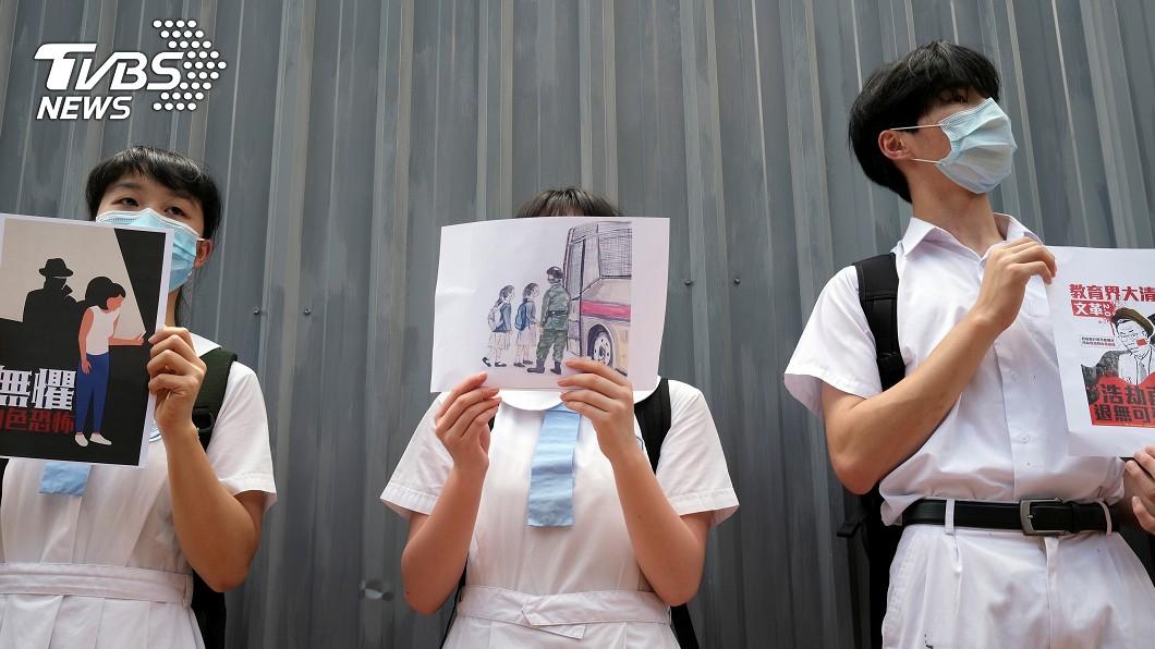 天主教香港教區教育事務處要求任何人不得用校地表達政治訴求。(圖/達志影像路透社) 港天主教新規:不能用屬校場所表達政治訴求