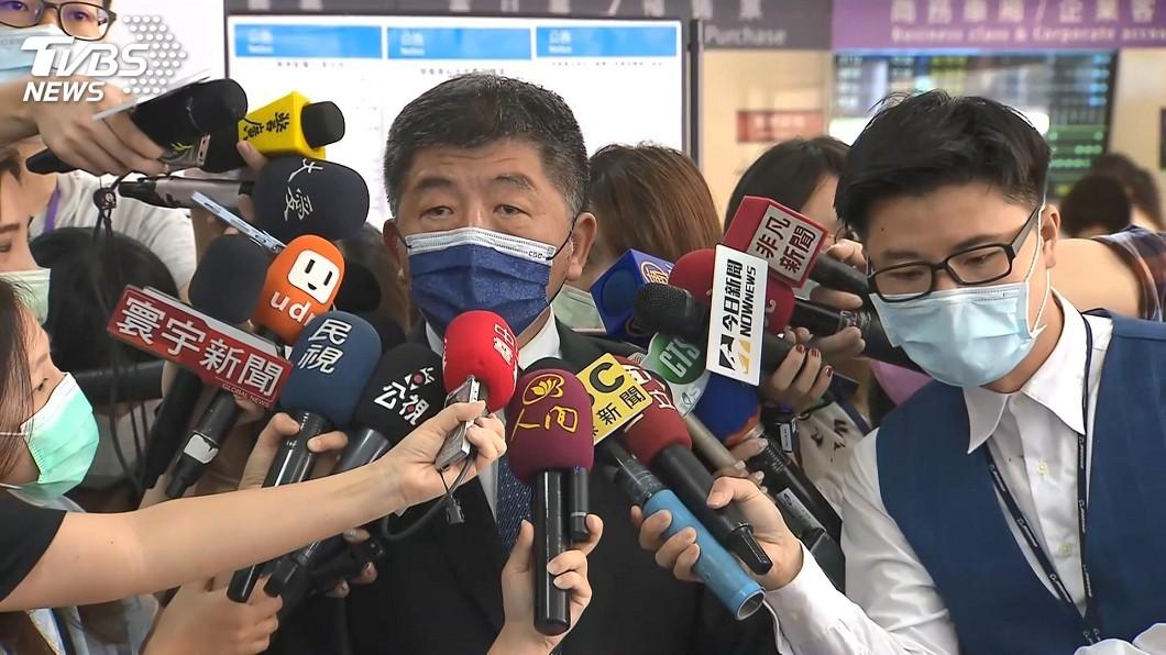 疫情指揮中心指揮官陳時中。(圖/TVBS) 加利稱陸貨口罩防護率99% 陳時中:違法少說五四三