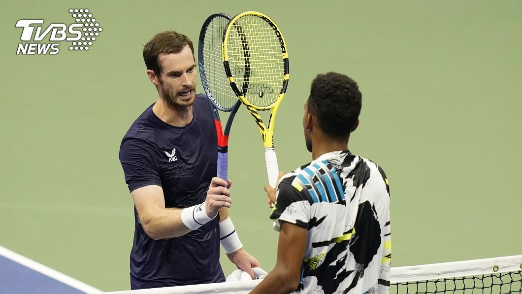 英網球名將莫瑞敗給加拿大選手奧格 - 阿里辛。(圖/達志影像美聯社) 美網2輪未能逆轉 莫瑞敗給加拿大新星奧格阿里辛