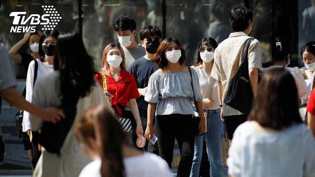韓國疫情出現不明感染路徑。(圖/達志影像路透社) 韓國新增確診續降 感染「路徑不明」成疫情未知數