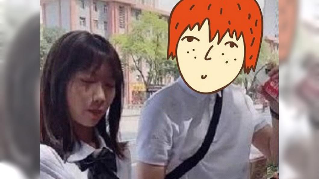 圖/翻攝自微博 接高中女兒下課 「超嫩老爸」被誤認男友…老師打給媽告狀