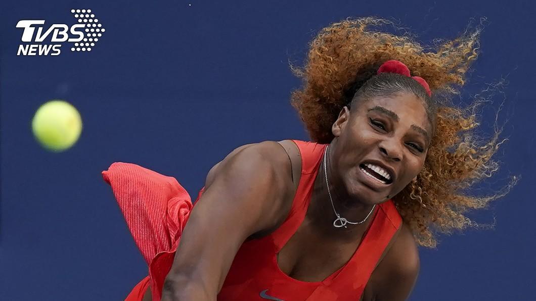 美國網球名將小威廉斯成功晉級公開賽女單16強。(圖/達志影像美聯社) 美網女單 小威逆轉勝晉級16強
