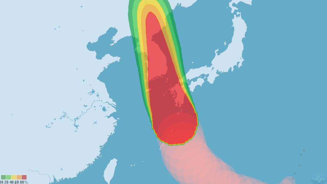 圖/中央氣象局 「海神」威力減 氣象廳:暴風圈仍遍及全九州