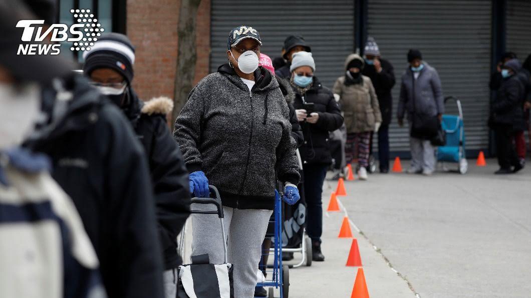 美國22州確診人數增。(圖/達志影像路透社) 美國22州確診人數增 憂勞動節群聚染疫風險升