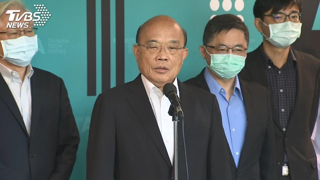 行政院長蘇貞昌。(圖/TVBS) 王金平將率團赴海峽論壇 蘇貞昌:任何人都須守法