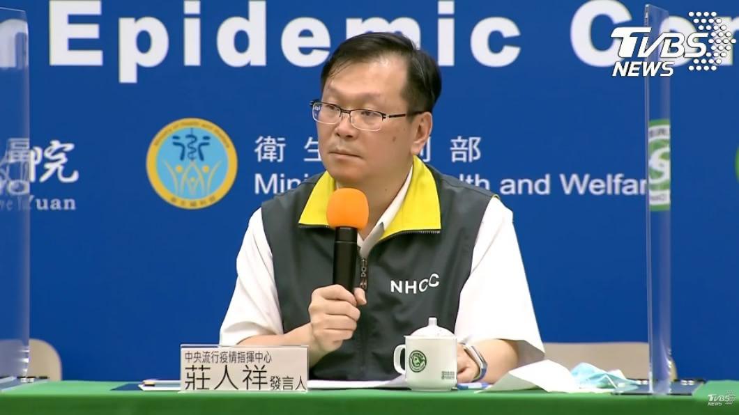 中央流行疫情指揮中心發言人莊人祥。(圖/TVBS) 今添1例境外移入 菲籍男入境無症狀隨後確診