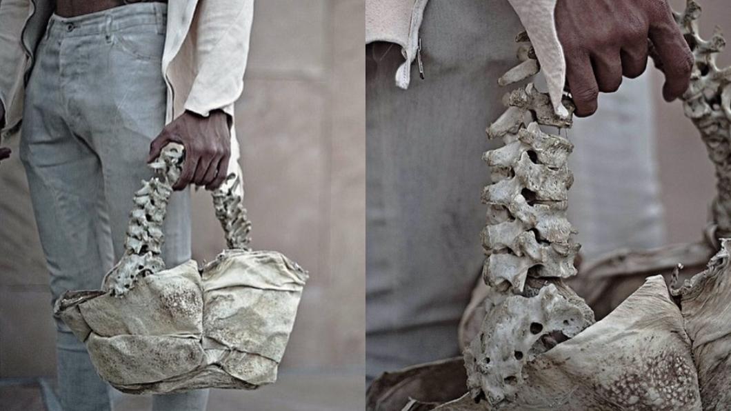 (圖/翻攝自Instagram) 遭爆拿兒童脊椎骨做「人骨包」 富二代設計師挨轟