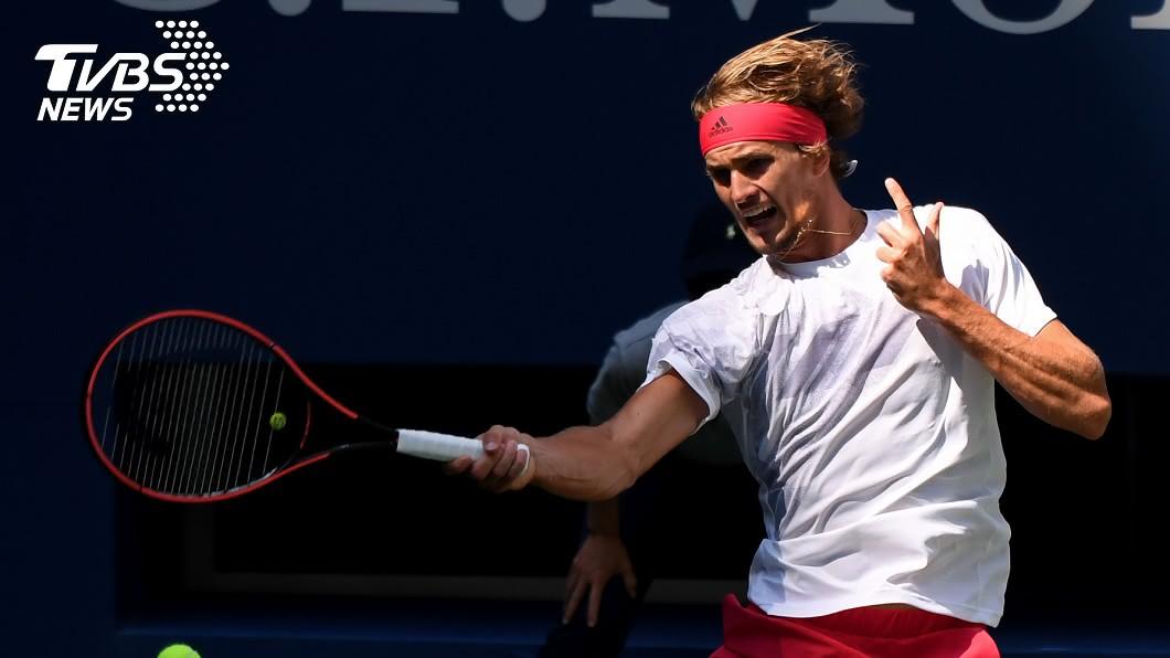 德國網球好手茲韋列夫挺進美網公開賽男單4強。(圖/達志影像路透社) 殺進美網4強! 茲韋列夫逆轉力克柯里奇