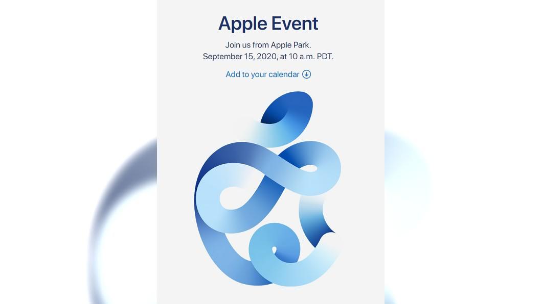 蘋果邀請函暗示可能發表「海軍藍」色iPhone 12手機。(圖/翻攝自Apple官網) iPhone12快來!蘋果秋季發表會9/16登場