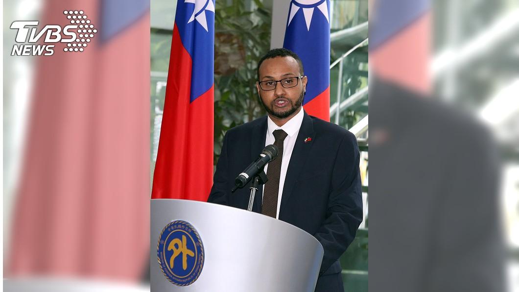 索馬利蘭駐台代表穆姆德參加代表處揭牌儀式。(圖/中央社) 索馬利蘭駐台代表處成立 強化台索經貿密切合作