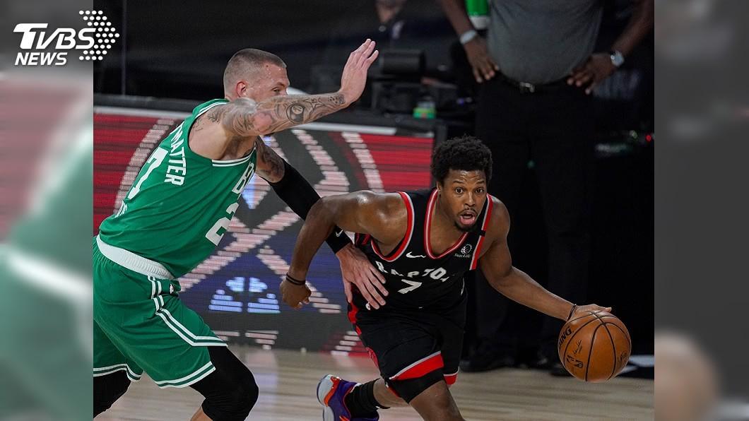暴龍的勞瑞攻進全場最高33分。(圖/達志影像美聯社) 暴龍延長賽終擒塞爾蒂克 NBA季後系列賽拚第7戰