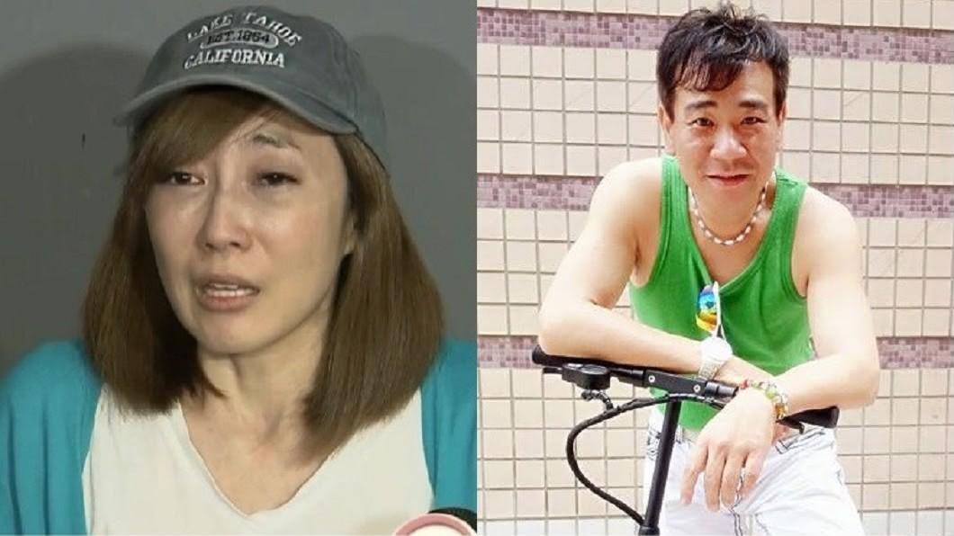 Nana(圖左)三年前因公開白雲床照惹議,淚崩召開記者會道歉。(圖/翻攝自白雲臉書、TVBS資料照) 3年前劈腿女星私密照遭洩 白雲「不碰女人了」吐心聲
