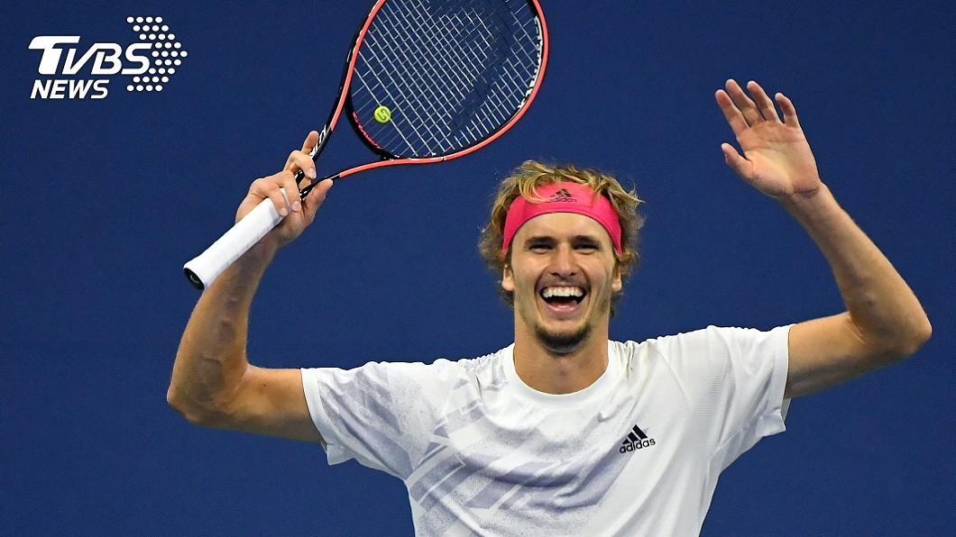 德國網球好手茲韋列夫晉級美網公開賽男單決賽。(圖/達志影像路透社) 茲韋列夫激戰5盤擊退卡瑞諾 闖美網男單決賽