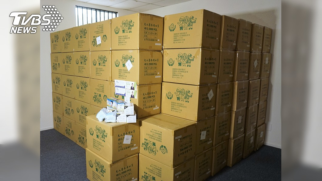 僑務委員會協助僑民購買的口罩達60萬片。(圖/中央社) 就愛MIT!美僑揪團搶口罩 6小時破60萬片