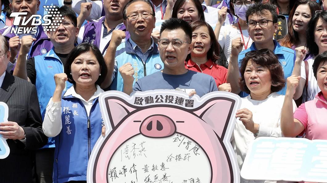 國民黨主席江啟臣說萊豬是公共議題,歡迎各黨辯論。(圖/中央社) 反萊豬進口公投連署開跑!江啟臣邀各黨辯論