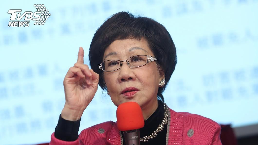 前副總統呂秀蓮表示,希望藍營全團取消前往海峽論壇。(圖/中央社) 央視酸王金平求和 呂秀蓮喊要尊嚴籲「全團取消」