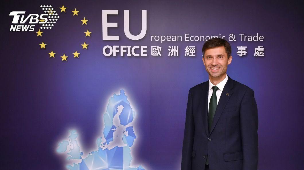 歐盟駐台代表高哲夫。(圖/中央社) 打鐵趁熱!歐盟代表:台灣可在歐洲新經濟扮演要角