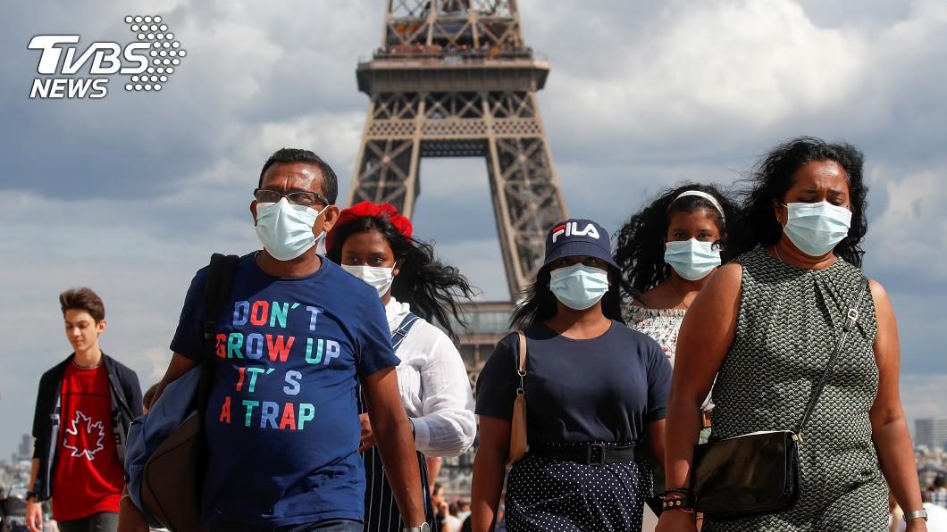 法國新冠肺炎單日確診數創新高。(圖/達志影像路透社) 首度突破1萬例!法疫情升單日確診創新高