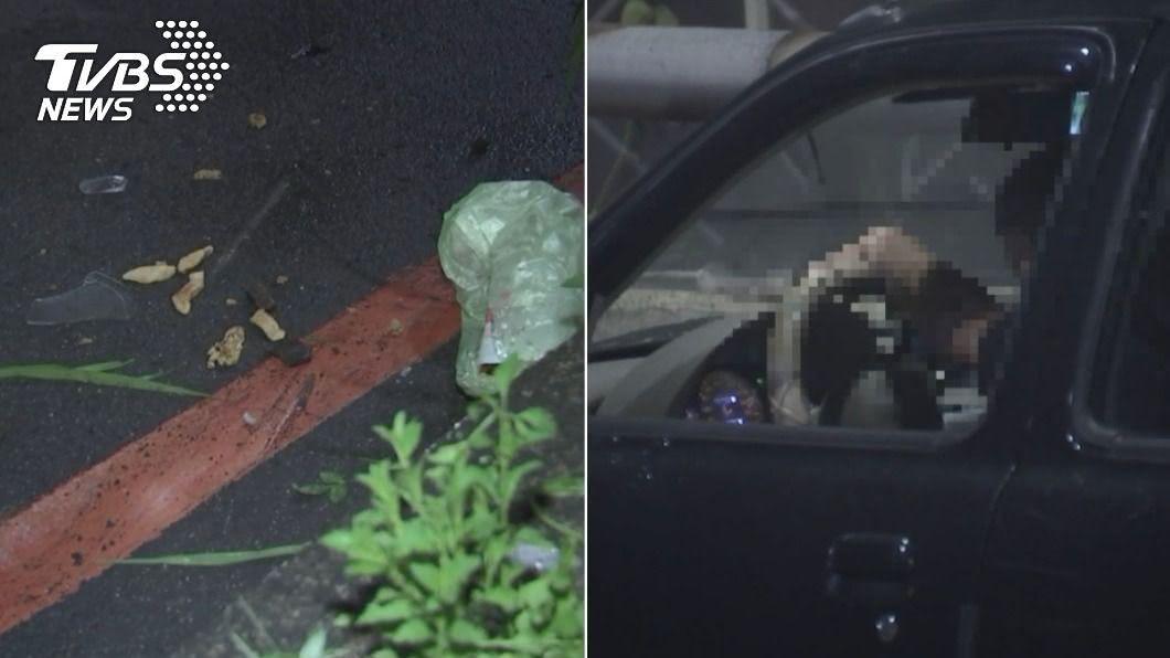 (圖/TVBS) 開車「揉眼睛」衝對向車道!女騎士剛買完消夜遭撞身亡